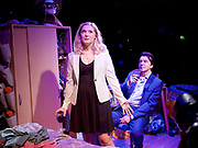 Touch <br /> by Vicky Jones <br /> at Soho Theatre, London, Great Britain <br /> press photocall 11th July 2017 <br /> <br /> <br /> <br /> James Clyde as Miles <br /> <br /> Amy Morgan as Dee <br /> <br /> <br /> <br /> <br /> Photograph by Elliott Franks <br /> Image licensed to Elliott Franks Photography Services