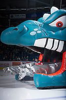 KELOWNA, CANADA - DECEMBER 8:  Dylen McKinlay #19 of the Kelowna Rockets enters the ice against the Prince George Cougars at the Kelowna Rockets on December 8, 2012 at Prospera Place in Kelowna, British Columbia, Canada (Photo by Marissa Baecker/Shoot the Breeze) *** Local Caption ***