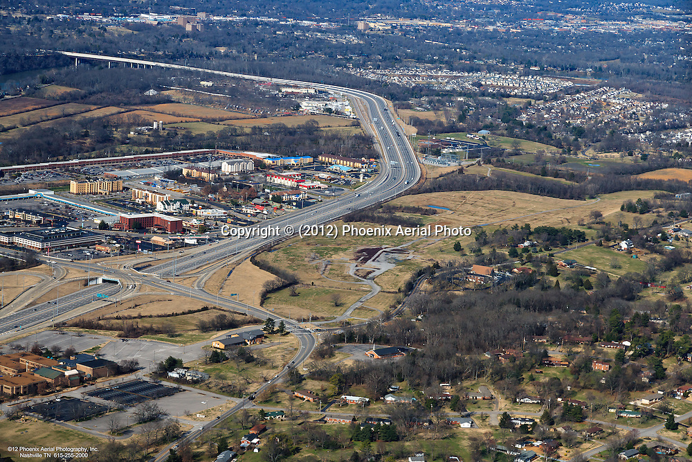Aerial photo showing the location of the proposed water / snow themepark announced by Dollywood Company and Gaylord Entertainment.