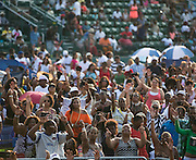 Fans enjoy a performance by Rob Base at Rochester Summer Fest at Sahlen's Stadium in Rochester on Saturday, July 11, 2015.