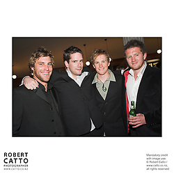 Richard Knowles;Vaughan Slinn;Mike Whalley;Ryan O'Kane at the Out Of The Blue Premiere 06 at the Embassy Theatre, Wellington, New Zealand.<br />