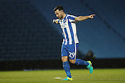 Brighton & Hove Albion striker Richie Towell (29) scores a goal 1-0 and celebrates during the EFL Trophy Southern Group G match between U23 Brighton and Hove Albion and Leyton Orient at the American Express Community Stadium, Brighton and Hove, England on 8 November 2016.