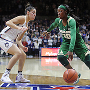 STORRS, CONNECTICUT- NOVEMBER 17: Alexis Jones #30 of the Baylor Bears drives to the basket defended by Kia Nurse #11 of the UConn Huskies during the UConn Huskies Vs Baylor Bears NCAA Women's Basketball game at Gampel Pavilion, on November 17th, 2016 in Storrs, Connecticut. (Photo by Tim Clayton/Corbis via Getty Images)