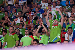 Supporters of Slovenia during the Final basketball match between National Teams  Slovenia and Serbia at Day 18 of the FIBA EuroBasket 2017 at Sinan Erdem Dome in Istanbul, Turkey on September 17, 2017. Photo by Vid Ponikvar / Sportida