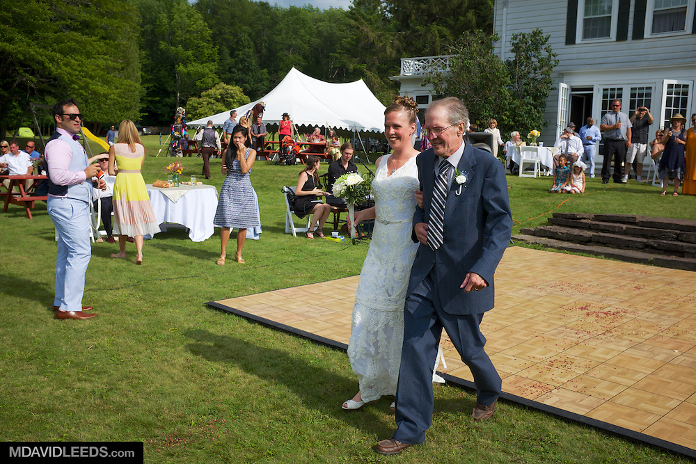 Sunday, July 20, 2014 Gilbertsville, NY:<br />   as seen during Lauren Raba and Jonah Shaw's celebration of marriage at Centennial Farms Manor in Gilbertsville, New York, by photographer M David Leeds.