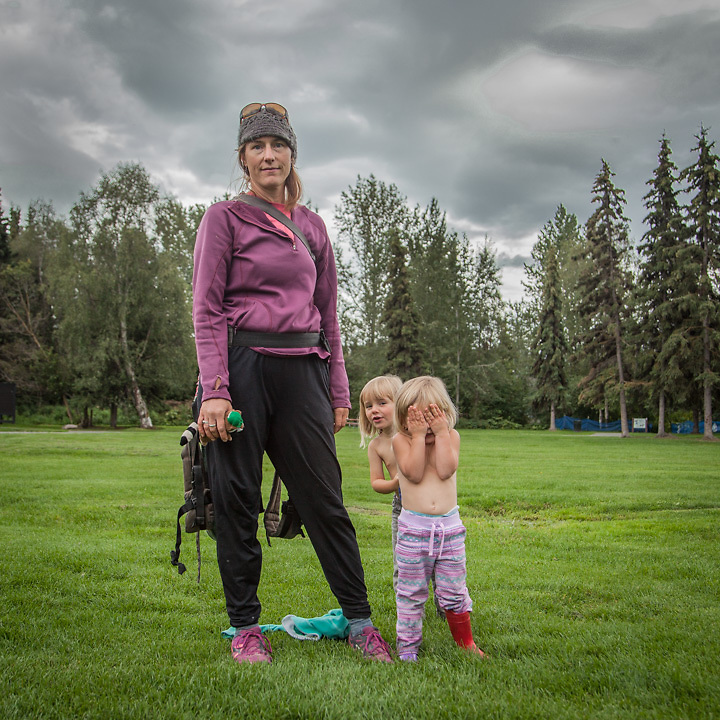Intensive care nurse Karen Loso with her daughter Ruby and niece Mae at the Valley of the Moon Park, Anchorage.  karenbemben@yahoo.com