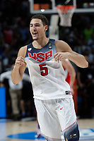United States´s Thompson celebrates after winning  FIBA Basketball World Cup Spain 2014 final match between United States and Serbia at `Palacio de los deportes´ stadium in Madrid, Spain. September 14, 2014. (ALTERPHOTOSVictor Blanco)
