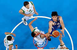Boban Marjanovic of Serbia vs Goran Dragic of Slovenia, Erazem Lorbek of Slovenia, Mirza Begic of Slovenia and Edo Muric of Slovenia during basketball game between National basketball teams of Slovenia and Serbia in 7th place game of FIBA Europe Eurobasket Lithuania 2011, on September 17, 2011, in Arena Zalgirio, Kaunas, Lithuania. Slovenia defeated Serbia 72 - 68 and placed 7th. (Photo by Vid Ponikvar / Sportida)