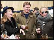 CHLOE DELEVIGNE; CHARLIE PRAGNELL; EMILY PRAGNEL, The Heythrop Hunt Point to Point. Cockle barrow. 25 January 2015