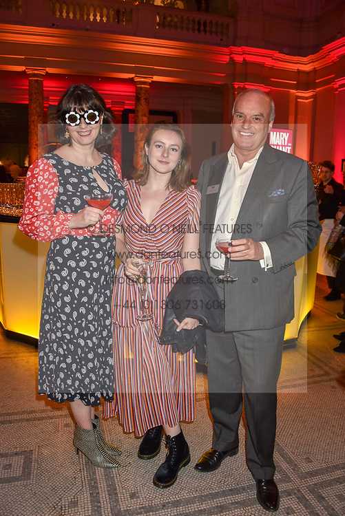 Georgia Coleridge, Sophie Coleridge and Nicholas Coleridge at the Mary Quant VIP Preview at The Victoria & Albert Museum, London, England. 03 April 2019. <br /> <br /> ***For fees please contact us prior to publication***
