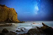 July 31, 2014 - Milky Way Galaxy at the Dana Point Headlands at 2am in Dana Point, CA.