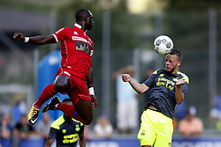 Bart Ramselaar of PSV (R) during the friendly match between FC Sion and PSV Eindhoven at Stade St-Marc on July 12, 2017 in Bagnes, Switzerland