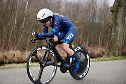 Emilie Moberg (NOR) at Healthy Ageing Tour 2018 - Stage 1, an 8km individual time trial in Heerenveen on April 4, 2018. Photo by Sean Robinson/Velofocus.com
