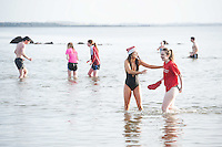 25/12/2015 Lorna and Niamh  Carty from Turloughmore Salthill Galway taking part in the COPE annual Christmas Day swim  . Photo:Andrew Downes