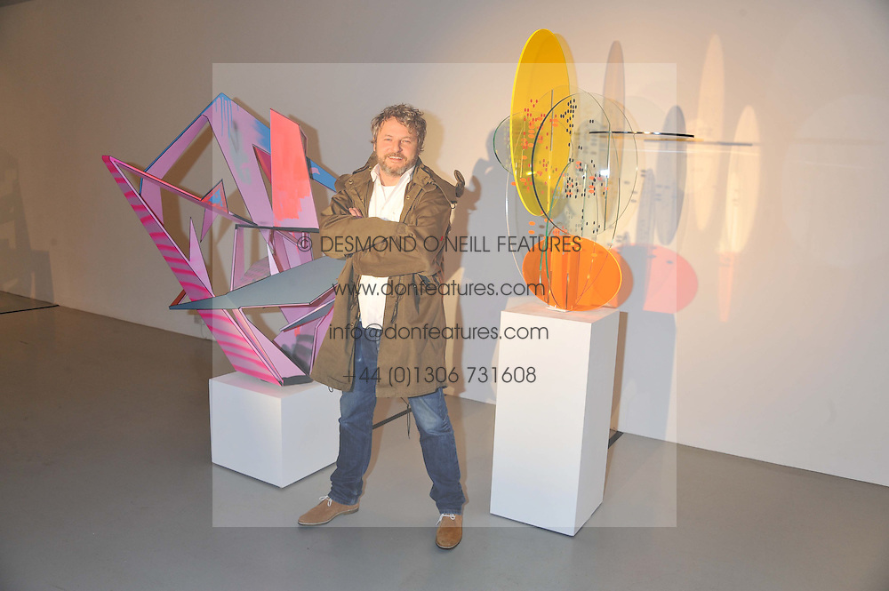 Artist TOBIAS REHBERGER at a private view of Tobias Rehberger's latest work entitled 'Sex and Friends' held at the Pilar Corrias Gallery, 54 Eastcastle Street, London W1 on 12th January 2012.