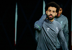 LONDON, ENGLAND - Monday, February 4, 2019: Liverpool's Mohamed Salah during the pre-match warm-up before the FA Premier League match between West Ham United FC and Liverpool FC at the London Stadium. (Pic by David Rawcliffe/Propaganda)