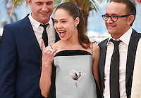 Vladimir Vdovichenkov, Yelena Lyadova, Andrey Zvyagintsev at the photo call for the film Leviathan at the 67th Cannes Film Festival, Friday 23rd May 2014, Cannes, France.
