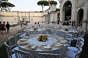 Rome, Italy Outdoor dinner party
