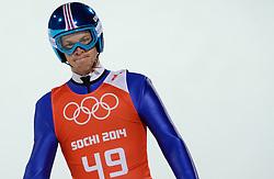 06-02-2014 SCHANSSPRINGEN: OLYMPIC GAMES: SOTSJI<br /> Training Schansspringen op het Russki Gorki Jumping Center / Michael Hayboeck AUT<br /> ©2014-FotoHoogendoorn.nl<br />  / Sportida