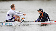Caversham, GREAT BRITAIN, GB Mixed 4 left, JAMES MORGAN [LTA4+] and Alan SHERMAN,  Adaptive Rowing Media Day [athletes training for the Beijing Paralympics]02.04.2008  [Mandatory Credit, Peter Spurrier / Intersport-images Rowing course: GB Rowing Training Complex, Redgrave Pinsent Lake, Caversham, Reading