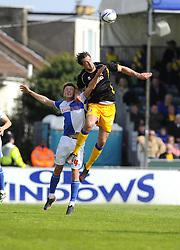 Bristol Rovers' Ollie Clarke battles for the high ball - Photo mandatory by-line: Joe Meredith/JMP - Mobile: 07966 386802 03/05/2014 - SPORT - FOOTBALL - Bristol - Memorial Stadium - Bristol Rovers v Mansfield - Sky Bet League Two