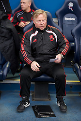 BOLTON, ENGLAND - Sunday, October 31, 2010: Liverpool's assistant manager Sammy Lee with his Apple iPad before the Premiership match against Bolton Wanderers at the Reebok Stadium. (Pic by: David Rawcliffe/Propaganda)