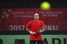 Davis Cup World Group Semifinal match between Belgium and Australia - Training - 12 September 2017
