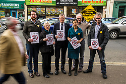 Pictured: Alexander Graham (Tranent, Wallyford and Macmerry ward), Elizabeth Wilson (Dunbar and East Linton ward), Willie Rennie, Claire Graham (Mussleburgh ward), Robert O'Riordan (North Berwick Coastal ward) and Kelvin Pate (Haddington and Lammarmuir ward)<br /> <br /> Scottish Liberal  Party leader Willie Rennie joined with local candidates and supporters in Mussleburgh today as part of a whistle stop tour to launch the Scottish Liberal Democrates manifesto for the upcoming council elections. Mussleburgh High Street is a bottleneck with 60 busses an hour passing through the town. Local candidates are asking for a radical solution to the pollution problem the traffic causes.<br /> <br /> Ger Harley | EEm 28 February 2017