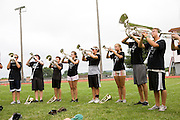 The Oregon Marching Band practices in Suttons Bay, Michigan on July 8, 2010. The band practices all week for the final performance of the season.