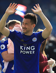 Leicester City's Shinji Okazaki after the final whistle during the Premier League match at the King Power Stadium, Leicester.