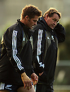 ichie McCaw and forwards coach Steve Hansen.<br /> All Blacks Training Session at Rugby League Park, Newtown, Wellington. Tuesday 3 June 2008. Photo: Dave Lintott/PHOTOSPORT
