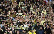 Phoenix fans.<br /> A-League football - Wellington Phoenix v Perth Glory at Westpac Stadium, Wellington. Sunday, 16 August 2009. Photo: Dave Lintott/PHOTOSPORT