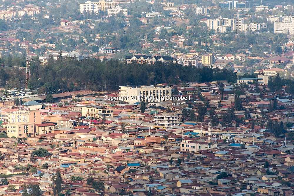 KIGALI, RWANDA-OCT 16:  Overview of Kigali the capital of Rwanda.  Since the 1994 genocide that killed at least 800,000 Rwanda has experienced unprecedented development with a major building boom in the capital. (Photo by William Campbell-Corbis via Getty Images)