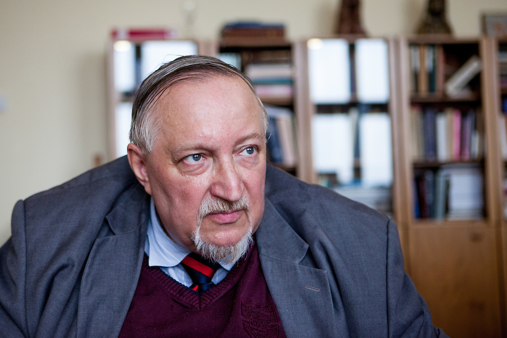 """Most of Huss's life is connected with the university, from his arrival to study there to his departure from Prague in 1412, when the Papal interdict was imposed on him,"" Jan Lasek, dean of the Hussite Theological Faculty in his office at the University in Prague."