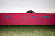 "A Grafitti on a wall outside the Washington University in St. Louis with the text ""If you don't vote  you can't complain"".<br />