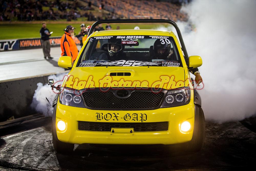 30 - Steven McQueen - BOX-GAP - 2005 Toyota Hilux - Yellow / Black - 2TR-FE 2.7 litre