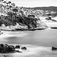Laguna Beach California panoramic photo. Laguna Beach is a Southern California beach city along the Pacific Ocean.