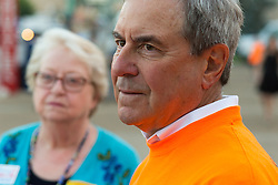 U.S. Congressman John Yarmuth D-Louisville speaks at a protest outside the 53rd Annual Kentucky Farm Beureau Country Ham Breakfast. The annual charity event was protested by Congressman John Yarmuth, Chris Hartman and other members of various fairness organizations outside the South Wing of the Kentucky Fair and Exposition Center, Thursday, Aug. 25, 2016 in Louisville.