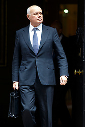 © Licensed to London News Pictures. 09/06/2015. Westminster, UK. Secretary of Work and Pensions IAIN DUNCAN SMITH attending to a cabinet meeting in Downing Street on Tuesday, 9 June 2015. Photo credit: Tolga Akmen/LNP
