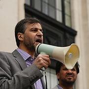 Mohammed Kozbar is a Charman of Finsbury Park mosque speak against hate and in solidarity with the Muslim community of the outrageous 'Punish a Muslim Day' letter recently sent to homes across the country is yet another example of anti-Muslim hate crime which has doubled over the last year on the 3rd March 2018 at Islington Town Hall, London, UK.