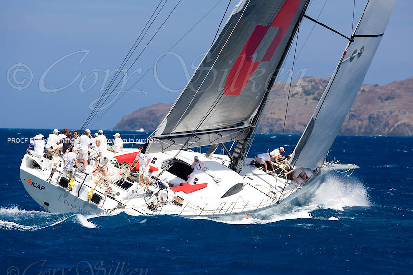 Leopard 3 racing at the St. Barth Bucket.