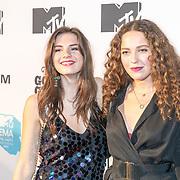 NLD/Amsterdam/20171106 - MTV Pre party 2017, Maan de Steenwinkel en vriendin