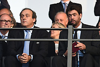 Michel Platini-Andrea Agnelli <br /> Berlino 06-06-2015 OlympiaStadion  <br /> Juventus Barcelona - Juventus Barcellona <br /> Finale Final Champions League 2014/2015 <br /> Foto Matteo Gribaudi/Image Sport/Insidefoto