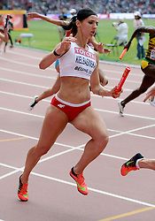 29-08-2015 CHN: IAAF World Championships Athletics day 7, Beijing<br /> Anna KIELBASINSKA  at 4 x 100m Women Photo by Ronald Hoogendoorn / Sportida