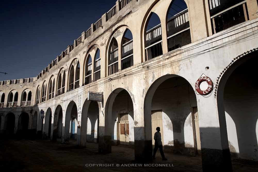 The coastal town of Massawa on the Red Sea, Eritrea..