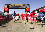 VILLIERSDORP, SOUTH AFRICA - Goal! during the Adidas Big Tree Foundation Schools Soccer Tournament Final held during stage two of the Absa Cape Epic Mountain Bike Stage Race held between Gordon's Bay and Villiersdorp on the 23 March 2009 in the Western Cape, South Africa..Photo by Ron Gaunt /SPORTZPICS