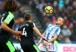Alex Pritchard of Huddersfield Town controls the ball - Mandatory by-line: Robbie Stephenson/JMP - 11/02/2018 - FOOTBALL - The John Smith's Stadium - Huddersfield, England - Huddersfield Town v Bournemouth - Premier League