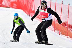 SUUR-HAMARI Matti, SB-LL2, FIN, MILLER Zach, USA, Snowboard Cross at the WPSB_2019 Para Snowboard World Cup, La Molina, Spain