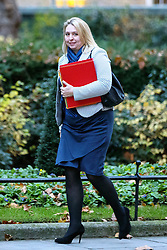© Licensed to London News Pictures. 23/11/2016. London, UK. Culture, Media and Sport Secretary KAREN BRADLEY attends a cabinet meeting in Downing Street before the autumn statement announment on Wednesday, 23 November 2016. Photo credit: Tolga Akmen/LNP