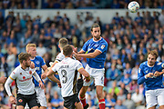 Portsmouth Defender, Christian Burgess (6) with a late header at goal during the EFL Sky Bet League 1 match between Portsmouth and Walsall at Fratton Park, Portsmouth, England on 19 August 2017. Photo by Adam Rivers.